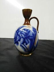Beautiful Vintage Adderly And Co. Cobalt Lily Vase Waa And Co. Lilly 1880's Rare