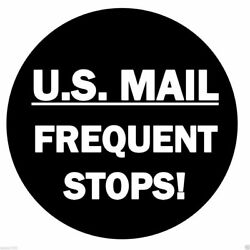 Us Mail Frequent Stops Postal Spare Tire Cover Caution Sign New