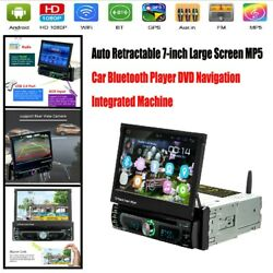 Auto Retractable 7-inch Large Screen Mp5 Car Bluetooth Player Dvd Nav Durable