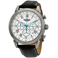 Menand039s Watch I By Chronograph White Dial Black Strap 90242-002