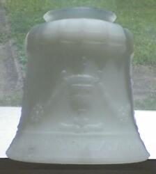 Art Deco Lamp Shade Grecian Urns Milk Glass Table Stand Ceiling Vintage 2 As Is