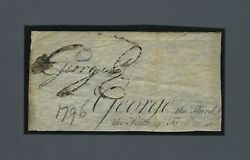 King George Iii Signed Document Clipping From 1796 Signed As King Jsa Loa