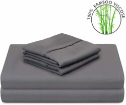 Pandatex Super Soft 100 Bamboo Sheets Set 4 Pieces Cool And Breathable Fits Up To