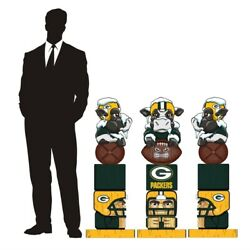 Green Bay Packers Large Tiki Totem Statue 36 Inches Tall Nfl Collectible Huge