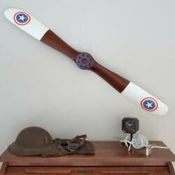 Replica Wwi Star Sopwith Wood Wooden Airplane Aircraft Propeller 47 White Tips
