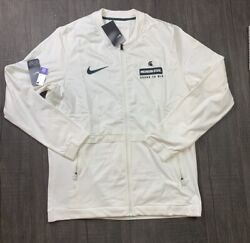 Nwt Mens Nike Michigan State Spartans Rival Jacket Off-white Size Large 100