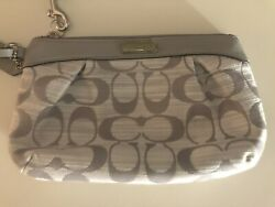 Coach gray Perforated Leather Wristlet Gray New Without Tags $20.00