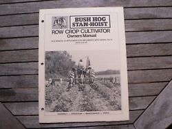 Bush Hog Row Crop Cultivator Owner Manual Maintenance Assembly Operation Parts