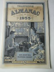 New Jersey Bell Telephone Almanac 1955 - 24 Pages