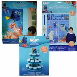 Finding Dory Happy Birthday Decorations NEW Party Supplies Disney Cupcake Scene