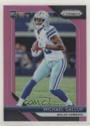 2018 Panini Prizm Rookies Pink Michael Gallup #226 Rookie $18.65