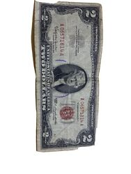 2 1963 Two Dollar Usa Legal Tender Note Red Seal Bill Old Currency Money Deuce