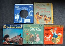 4 Walt Disney 45 Rpm And 1 33 1/3 Rpm Story Teller And Song Records