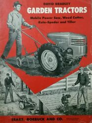 David Bradley Garden Tractor Sales, Owner, Engine, Parts And Service 5 Manual S
