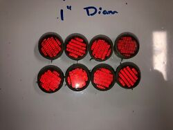 Vintage 8 Lot Red Grote 1s Reflectors Railroad Rr Crossbuck Stop Sign Train Old
