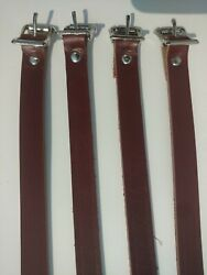 Leather Ski Straps For Leitz Roof Luggage Rack Fits Porsche 911 And 912 Set Of 4