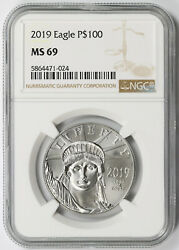 2019 Statue Of Liberty One-ounce Platinum American Eagle 100 Ms 69 Ngc 1 Oz