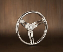 New Gussi Italia Boat Steering Wheel Cimbro Stainless Steel With Knob Keyed