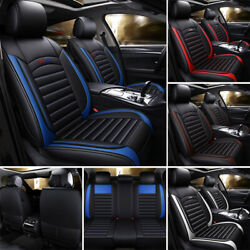 Us Auto Car Suv 5-seat Pu Leather Seat Covers Cushion For Toyota Camry Corolla