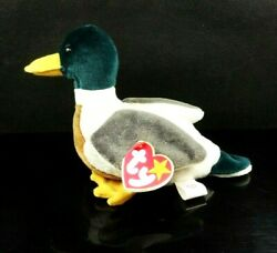 Ty Beanie Baby Jake The Duck Collection Retired Red Stamp P.e. Pellets