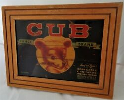 Harry And David Original Crate Side Panel With Label Bear Creek Orchards 1950and039s