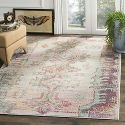 Safavieh Crystal Collection Crs517p Light Grey And Purple Distressed Bohemian Ar