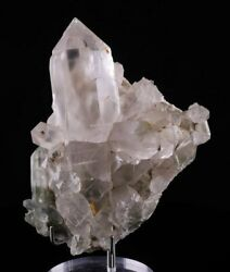 5.1 Inch Quartz Cluster With Chlorite And Actinolite From Pakistan 6685