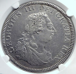 1804 Great Britain Uk George Iii Silver Bank Dollar 5 Shillings Coin Ngc I81744