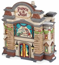 New Dept 56 Dickens Village Punch And Judy Puppet Theater Lighted Building 4036511