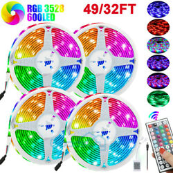 49ft 32ft Flexible 3528 Rgb Led Smd Strip Light Remote Fairy Lights Room Party