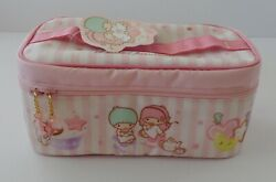 Sanrio 2008 Little Twin Stars Tea Time Cosmetic Vinyl Zipper Case NIB $64.99