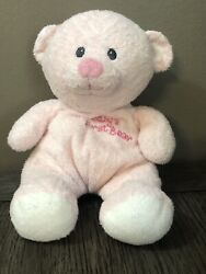 Ty Pluffies Babys First Bear Pink Plush 9 Beanie Baby Stuffed Animal Teddy 2007