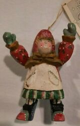 House Of Hatten 1992 Christmas Ornament Reach For Stars Denise Calla W/tag