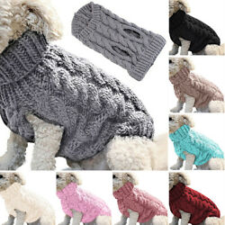 Winter Knitted Puppy Dog Jumper Sweater Pet Clothes For Small Dogs Cat Coat US $3.99