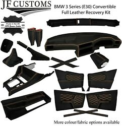 Beige Stitch Leather Covers For Bmw 3 Series E30 Convertible Full Interior Kit