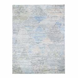 8and039x10and0396 Ivory Pure Silk Fluffy Collection Hand Knotted Oriental Rug R47496