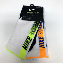 NIKE Court Multiplier Max Tennis Socks 2 Pairs Multi Color Unisex CK6538 902