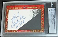 Leaf Double Sided Auto/signed Cut Herb Adderly And Willie Davis Autograph D 1/1