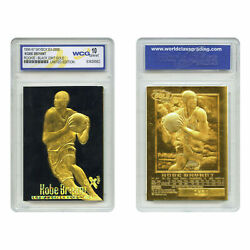 1996 Kobe Bryant Ex 2000 Credentials Rookie Card Black Gold Gem Grade 10