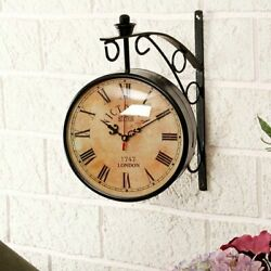 Victoria Station Double Sided Railway Clock Functional Clock Home Decor Item