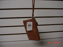 Coach Leather Wristlet Brown Wallet/new W/tags/f54626/logo/authentic/sale