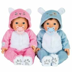 Tiny Treasures Twin Bumper Set Double The Fun Thanks Puppy And Kitten New Brand