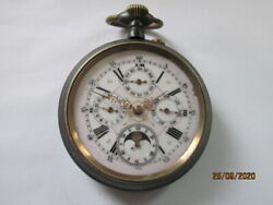 Moon Phase Multi Dial Pocket Watch