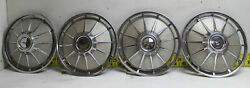 Used Oem 13 Hubcaps Set Of 4 1961-1963 Chevrolet Corvair / Monza 2743
