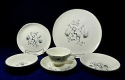 76-pcs Set For 9+ Of Taylor Smith And Taylor Dwarf Pine Cream Pattern China