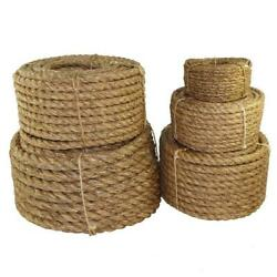 Twisted Manila Rope 5/8 Inch - Sgt Knots - 3 Strand Natural Fiber Rope - Multi