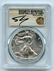 2016 S 1 American Silver Eagle 1oz Pcgs Ms70 Shaquille Oand039neal