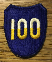 Original Wwii - U.s. 100th Division Patch - Worn - Sort Of Salty