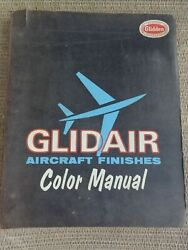 Vintage 1960and039s Glidden Glidair Aircraft Color Finishes Paint Sample Binder