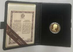 1979 Canadian Maple Leaf/qe Ii 100 22 Karat 1/2 Ounce Gold Proof Coin In Case